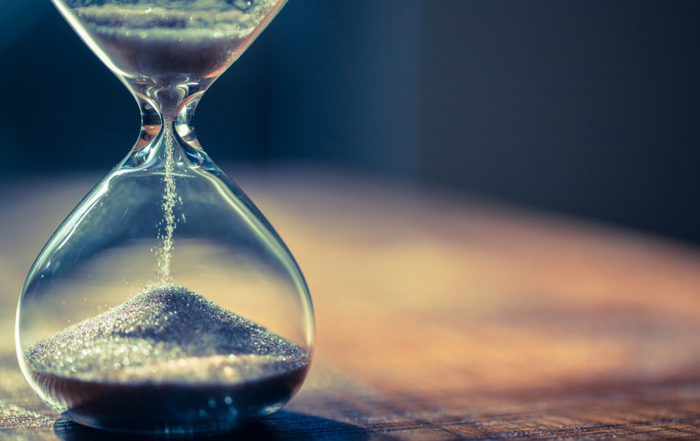 Photo of a hour glass sand timer